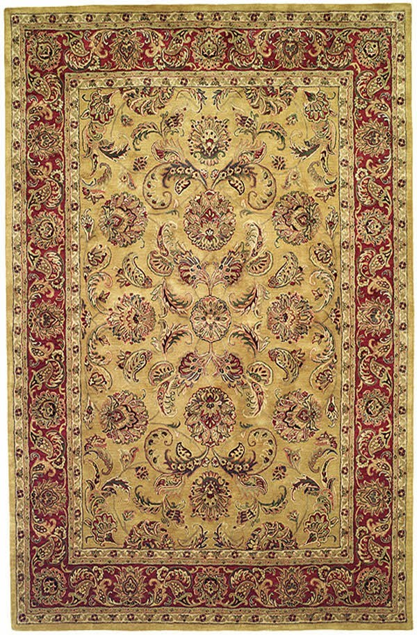 Gold, Red (A) Traditional / Oriental Area Rug