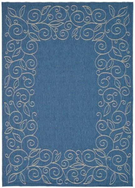Blue, Ivory (C) Transitional Area Rug