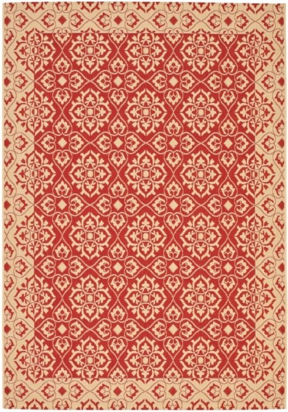 Red, Creme (28) Traditional / Oriental Area Rug