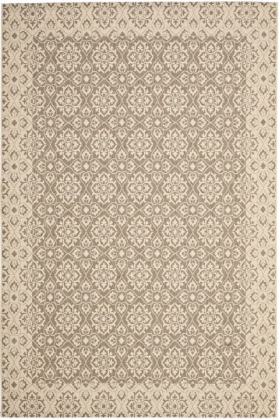 Brown, Creme (22) Traditional / Oriental Area Rug