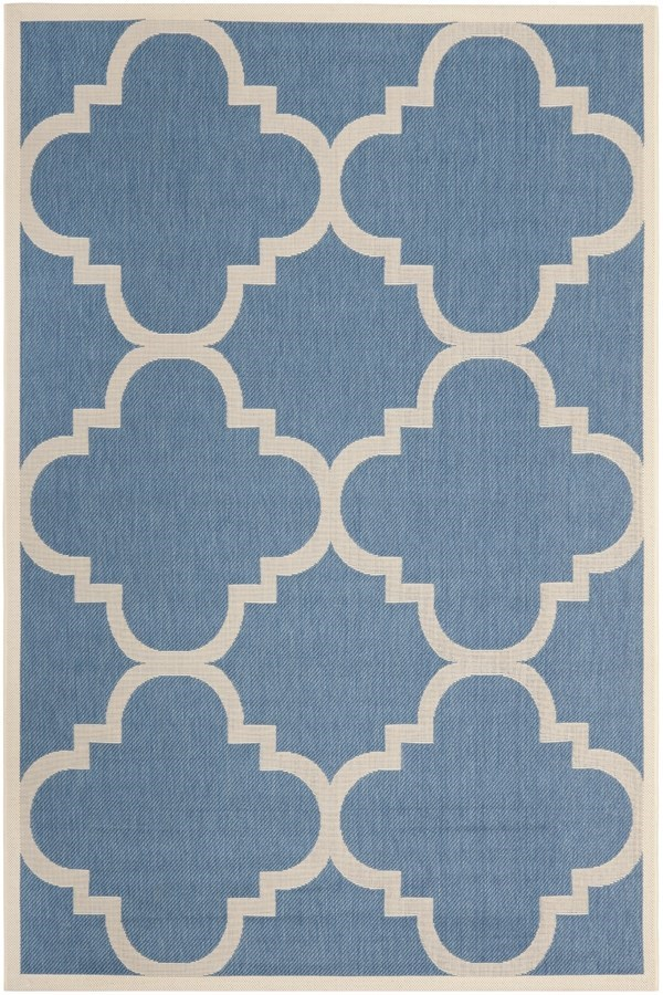 Blue, Beige (243) Moroccan Area Rug