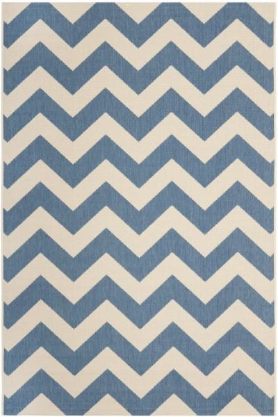 Blue, Beige (243) Chevron Area Rug