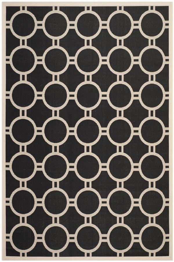 Black, Beige (266) Moroccan Area Rug