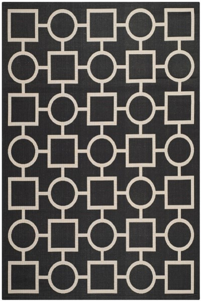 Black, Beige (266) Transitional Area Rug