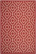 Product Image of Contemporary / Modern Red, Bone (248) Area Rug