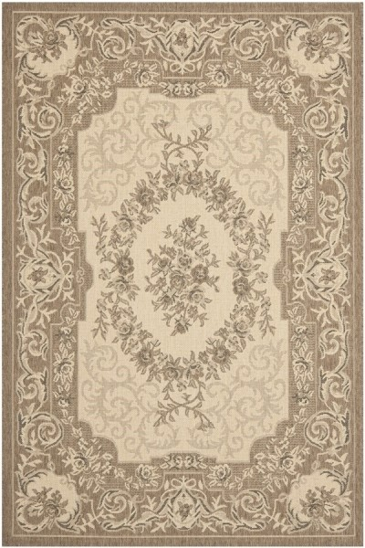 Creme, Brown (12A5) Traditional / Oriental Area Rug
