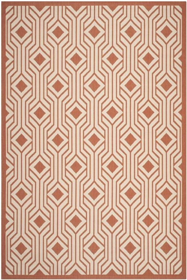 Beige, Terracotta (231) Transitional Area Rug