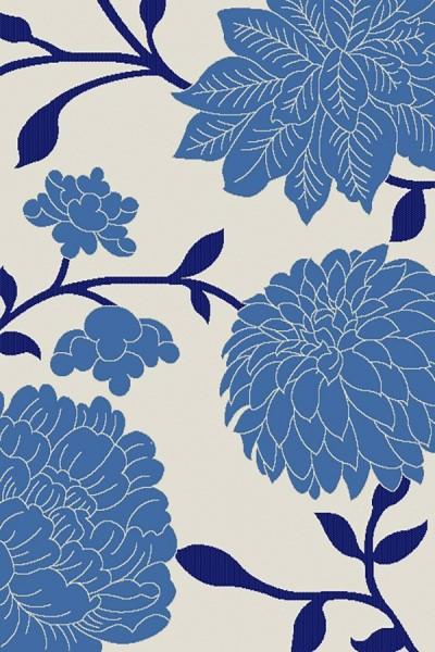 Beige, Blue (233A25) Outdoor / Indoor Area Rug
