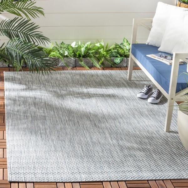 Grey, Navy (36812) Outdoor / Indoor Area Rug