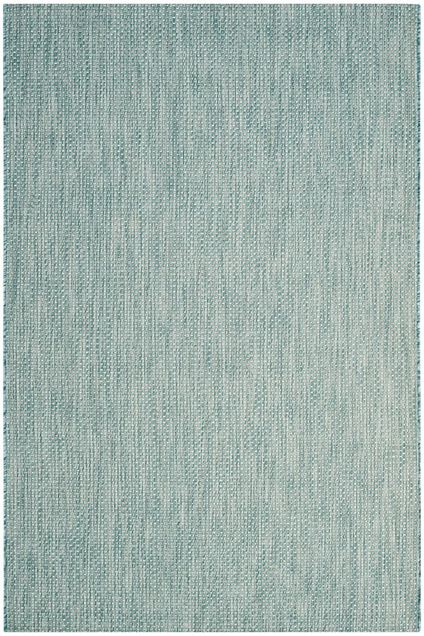 Aqua, Grey (37121) Outdoor / Indoor Area Rug