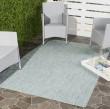 Product Image of Aqua, Grey (37121) Outdoor / Indoor Area Rug