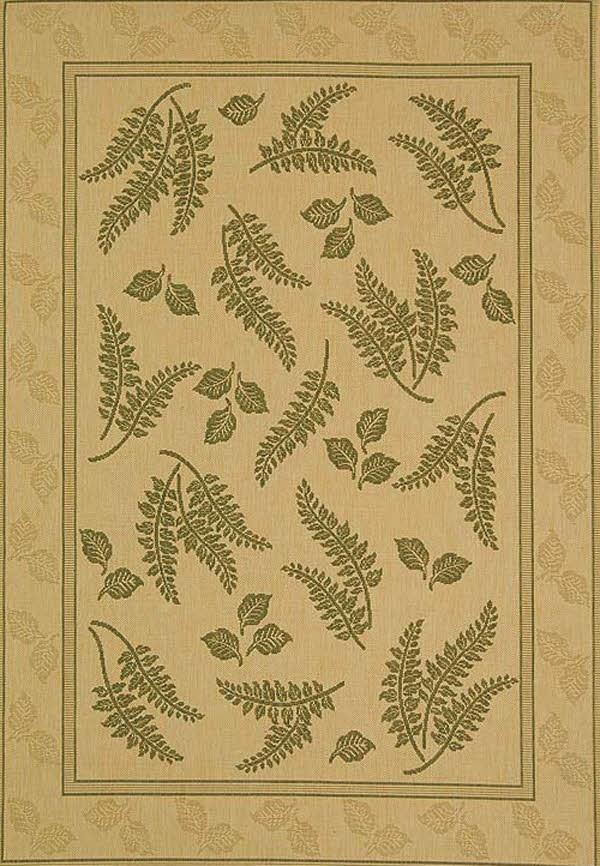 Natural, Olive (1E01) Transitional Area Rug