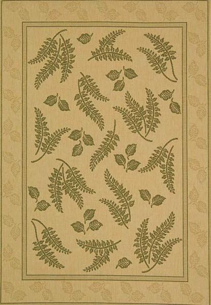 Natural, Olive (1E01) Floral / Botanical Area Rug