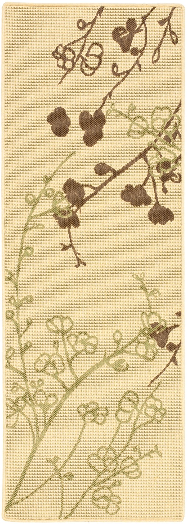 Natural, Brown, Olive (A) Outdoor / Indoor Area Rug