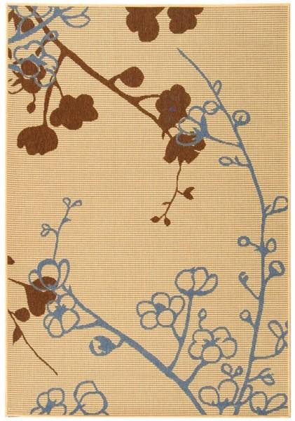 Natural, Brown, Blue (B) Outdoor / Indoor Area Rug