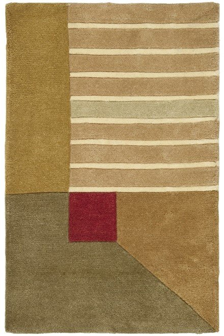 Beige, Ivory (A) Contemporary / Modern Area Rug