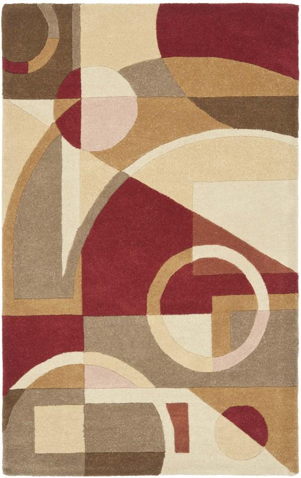 Brown, Beige (A) Geometric Area Rug