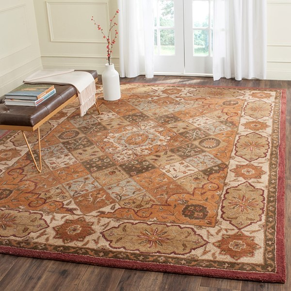 Rust, Ivory (A) Traditional / Oriental Area Rug