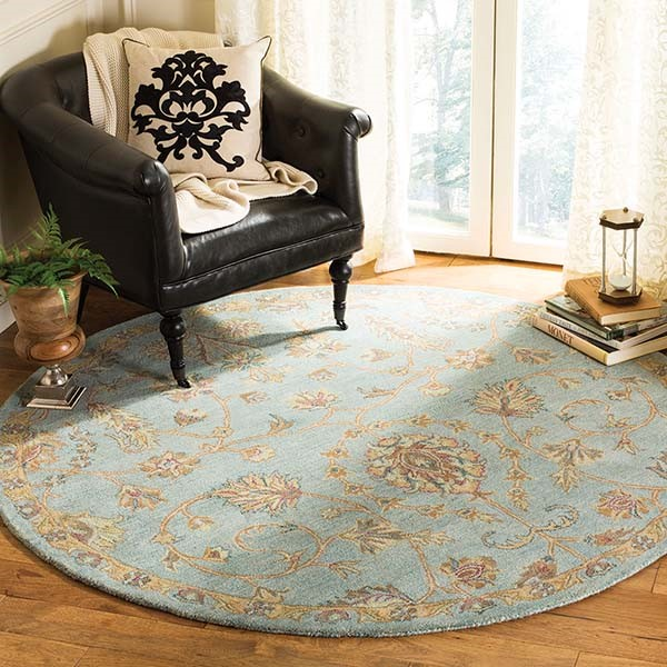Light Blue (A) Traditional / Oriental Area Rug