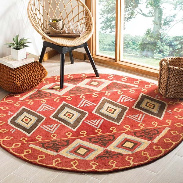 Red (A) Southwestern / Lodge Area Rug