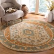 Product Image of Light Blue, Rust (A) Traditional / Oriental Area Rug
