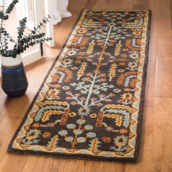 Charcoal (A) Traditional / Oriental Area Rug
