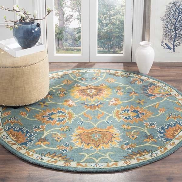 Light Blue (A) Traditional / Oriental Area Rug