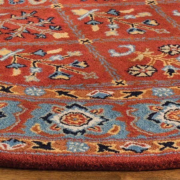 Red, Blue (Q) Traditional / Oriental Area Rug