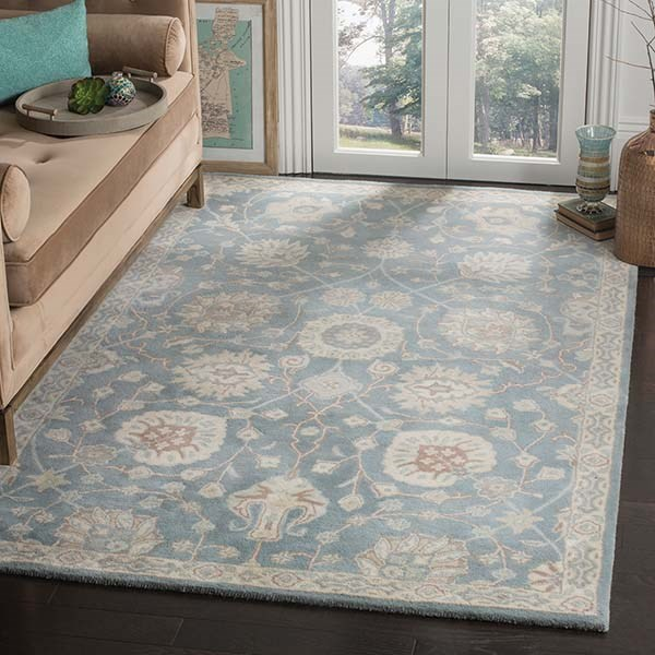 Grey, Ivory (A) Traditional / Oriental Area Rug