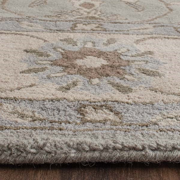 Beige, Grey (A) Traditional / Oriental Area Rug