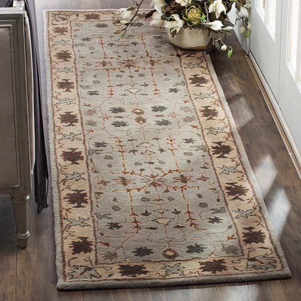 Green, Beige (A) Traditional / Oriental Area Rug
