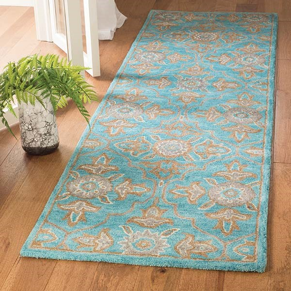 Turquoise (A) Traditional / Oriental Area Rug