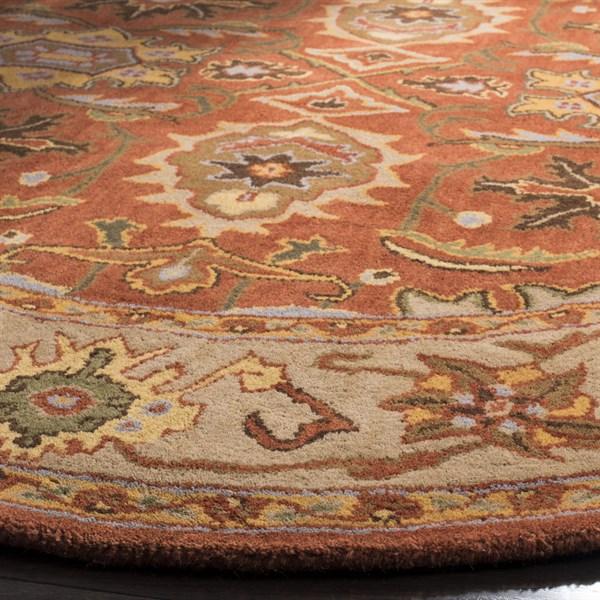Rust, Beige (D) Traditional / Oriental Area Rug