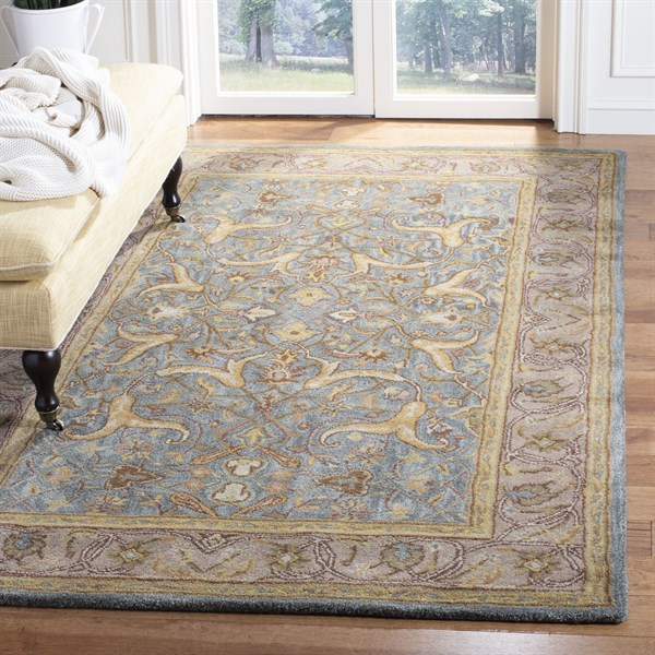 Blue, Beige (A) Traditional / Oriental Area Rug