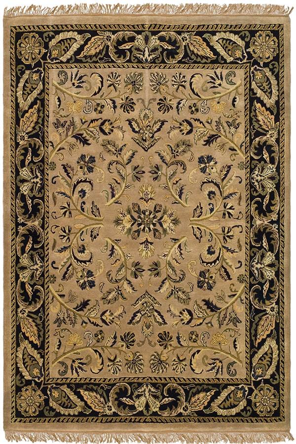 Camel, Black (E) Traditional / Oriental Area Rug