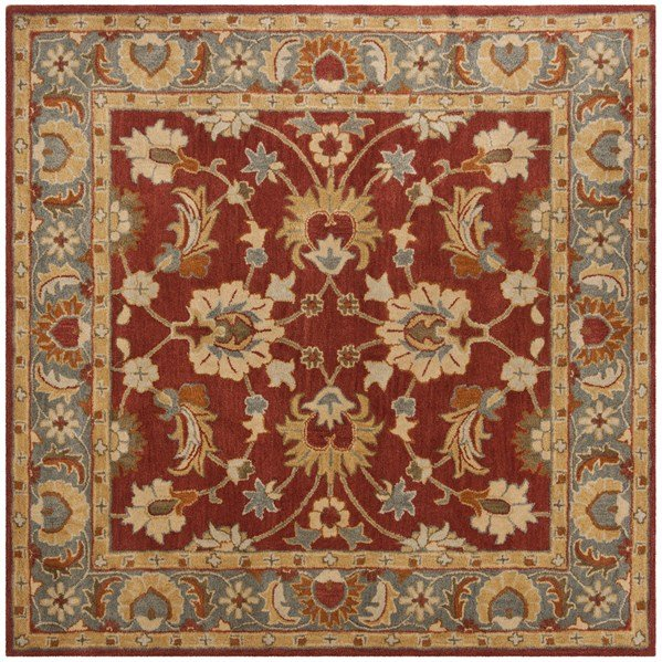 Red, Blue (A) Traditional / Oriental Area Rug