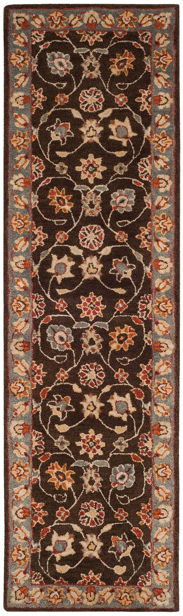 Charcoal, Blue (A) Traditional / Oriental Area Rug