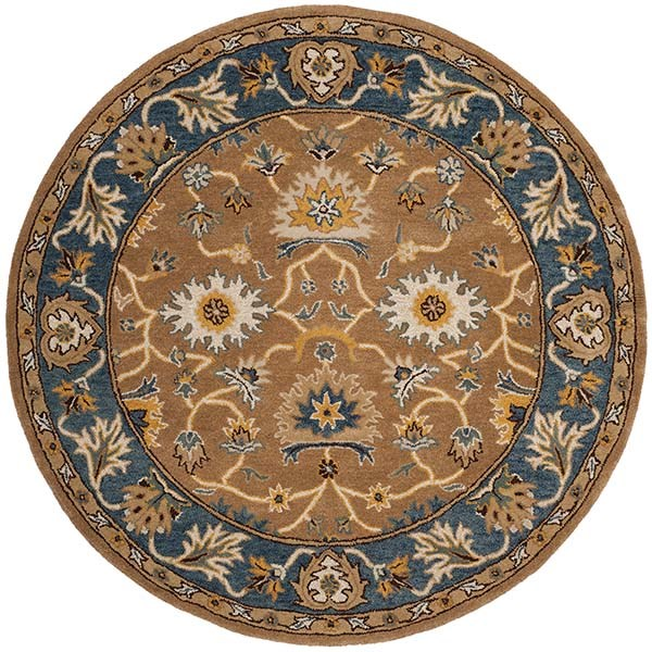 Camel, Blue (A) Traditional / Oriental Area Rug