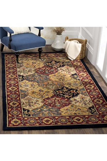 Cream, Navy (A) Traditional / Oriental Area Rug