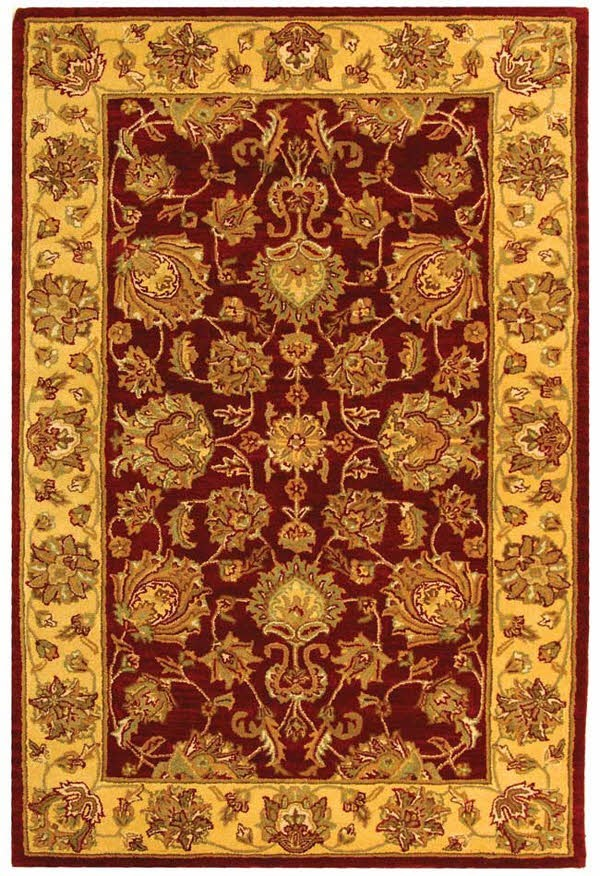 Red, Gold (C) Traditional / Oriental Area Rug