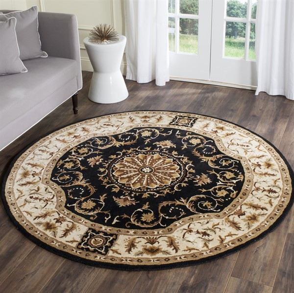 Brown, Blue (J) Traditional / Oriental Area Rug