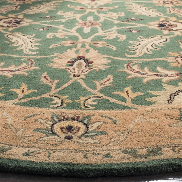 Dark Green, Gold (A) Traditional / Oriental Area Rug