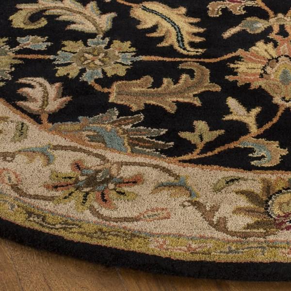 Black, Beige (B) Traditional / Oriental Area Rug