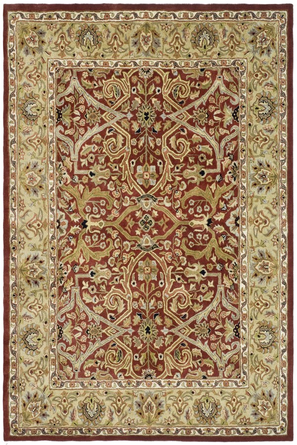 Red, Gold (B) Traditional / Oriental Area Rug