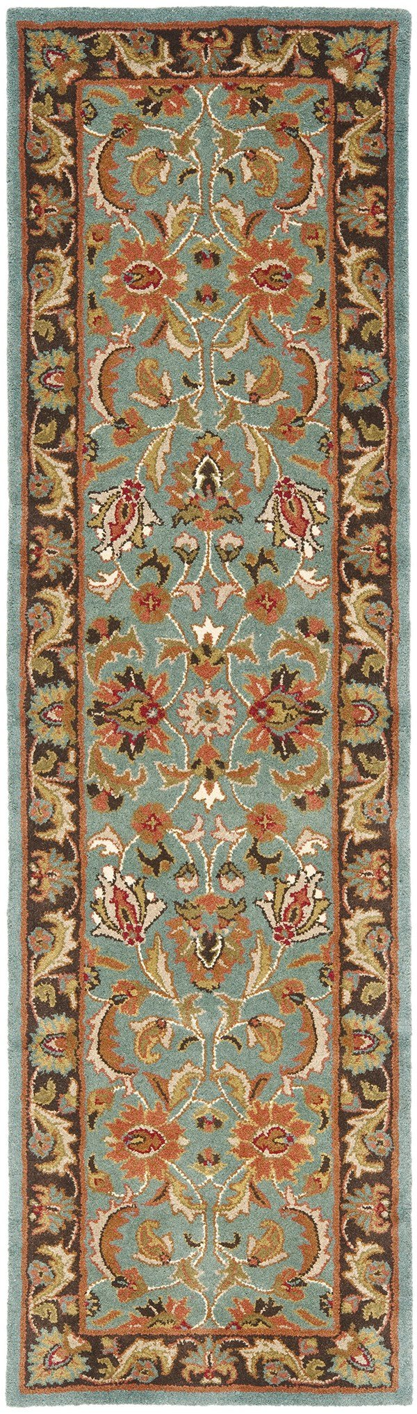 Blue, Brown (B) Traditional / Oriental Area Rug