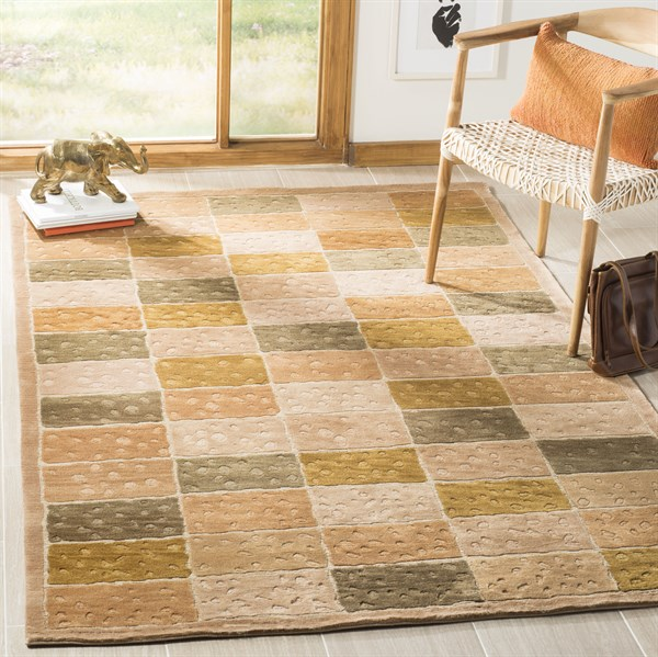 Tan (A)  Transitional Area Rug