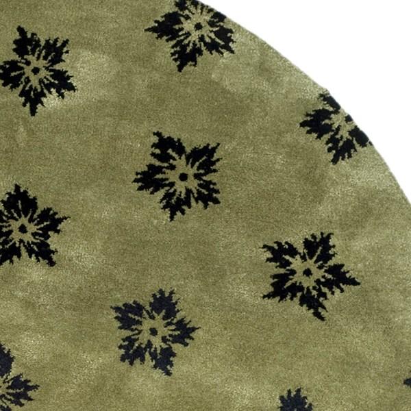 Sage, Black (A) Transitional Area Rug