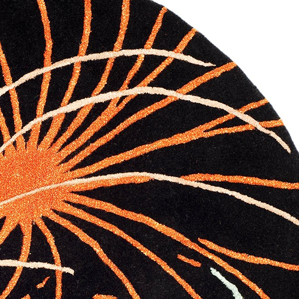 Black (A) Contemporary / Modern Area Rug