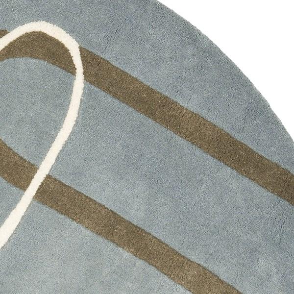 Blue (B) Contemporary / Modern Area Rug