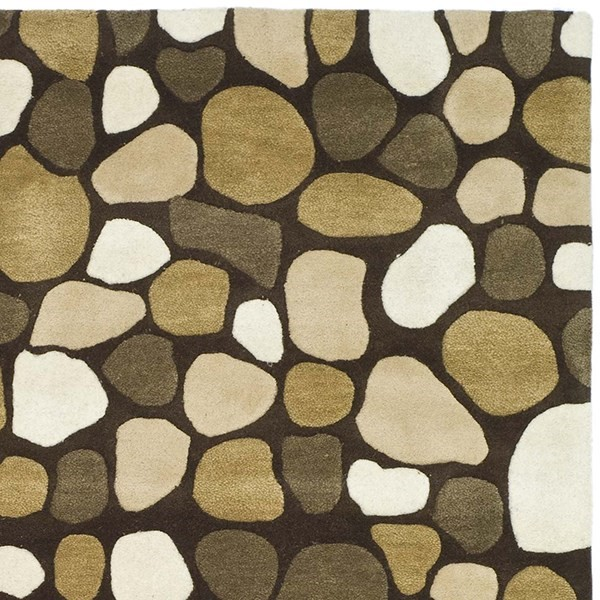 Dark Brown (A) Transitional Area Rug